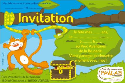 Exceptionnel Téléchargez votre carton d'invitation gratuitement ! | Parc  CD29