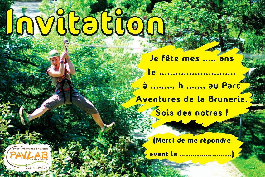 Célèbre Téléchargez votre carton d'invitation gratuitement ! | Parc  HH22